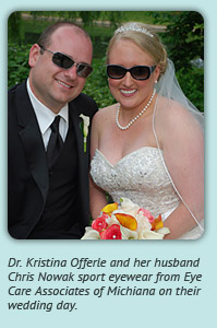 Dr. Kristina Offerle and her husband Chris Nowak on their wedding day.